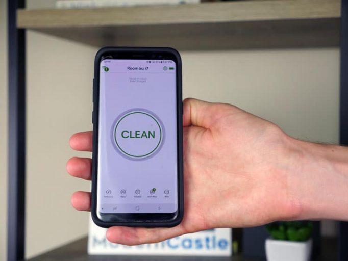 irobot roomba aplicación de teléfono inteligente
