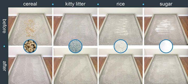 roomba e5154 prueba de limpieza de alfombras altas